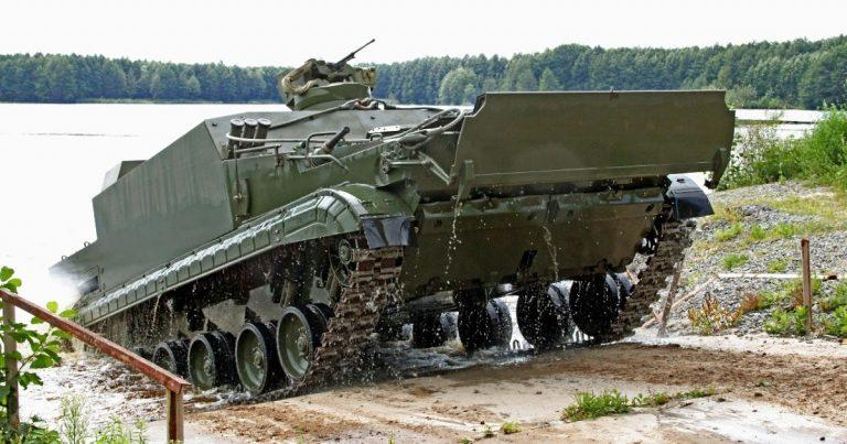 Indonesia Shortlists BT-3F Amphibious Tracked Vehicle from Russia for Marines Corps