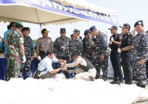TNI AL Gagalkan Penyelundupan Sabu-Sabu 1 Ton Lebih