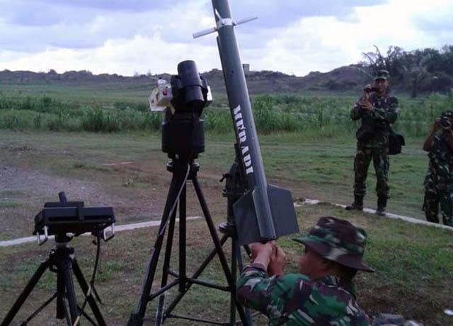 Dislitbang TNI dan UAD Yogya Uji Fungsi Rudal Merapi