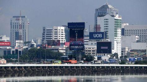 Johor Bahru, kota di Malaysia seperti tampak dalam foto yang diambil pada 4 Mei 2018, dari Singapura. (Getty Images)