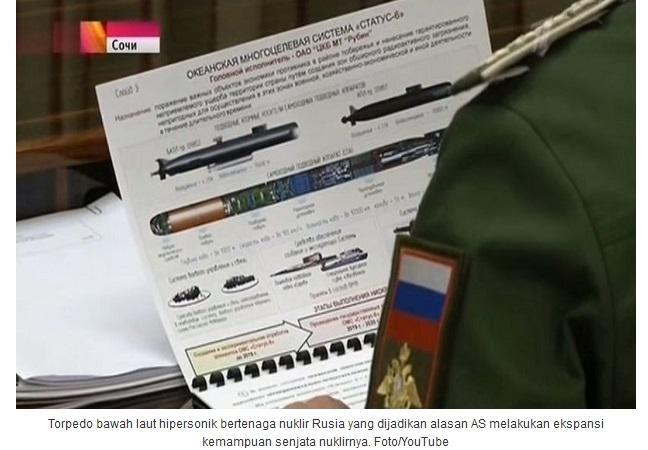 Rusia Ciptakan Senjata Kiamat Torpedo Hipersonik Nuklir