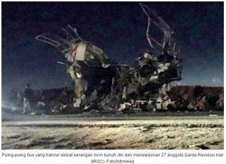 27 Anggota Garda Revolusi Iran Tewas Akibat Serangan Bom Bunuh Diri