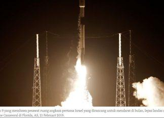 Israel Luncurkan Pesawat Antariksa Ke Bulan