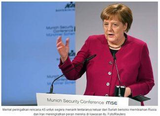 Kanselir Jerman Menilai Penarikan Pasukan Akan Perkuat Pengaruh Rusia Di Suriah