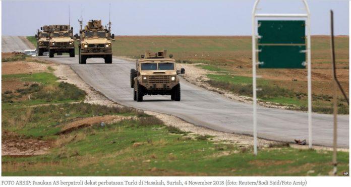 Tidak Semua Pasukan Ditarik Amerika Dari Suriah
