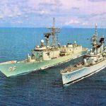 HMAS Newcastle Latihan Bersama KRI Karel Satsuit Tubun